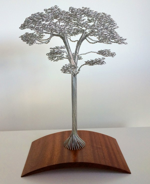 Dense Wire Tree Sculptures Clive Maddison Colossal