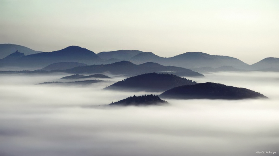 Foggy European Landscapes at Sunrise Photographed by Kilian Schönberger mountains landscapes fog Europe