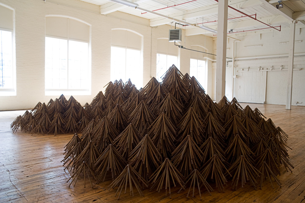 Only Nails, Always Different: Artist John Bisbees Life of Sculpting with Nails sculpture nails multiples installation