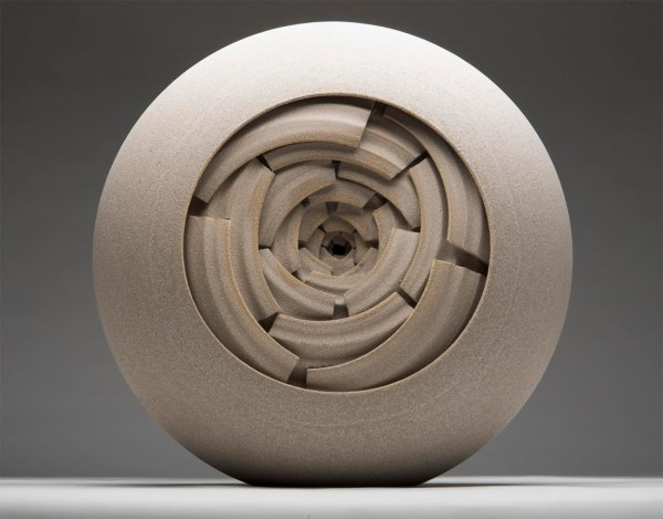 Concentrically Layered Ceramic Sculptures And Vessels
