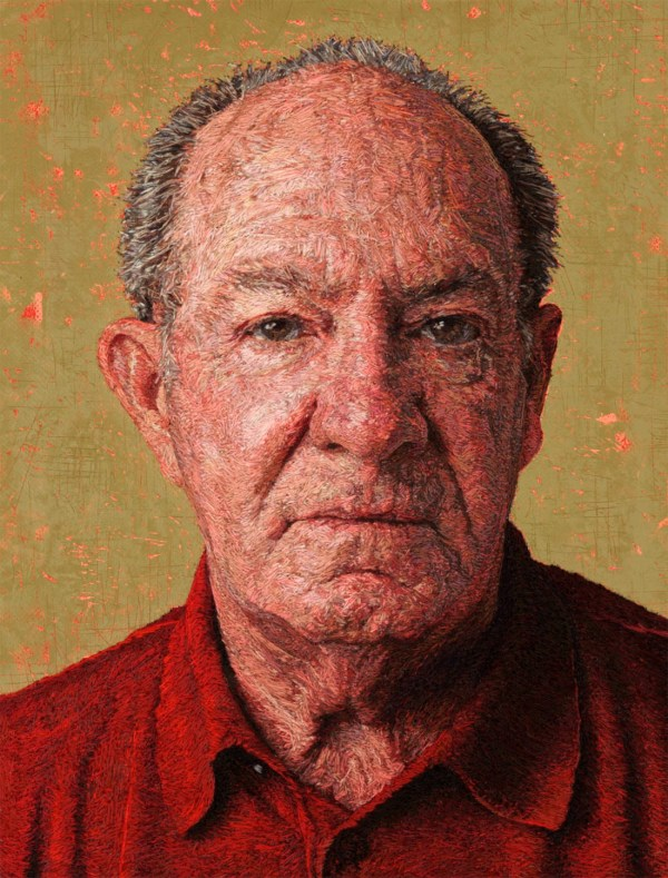 Thread Paintings Densely Embroidered Portraits Cayce Zavaglia Colossal