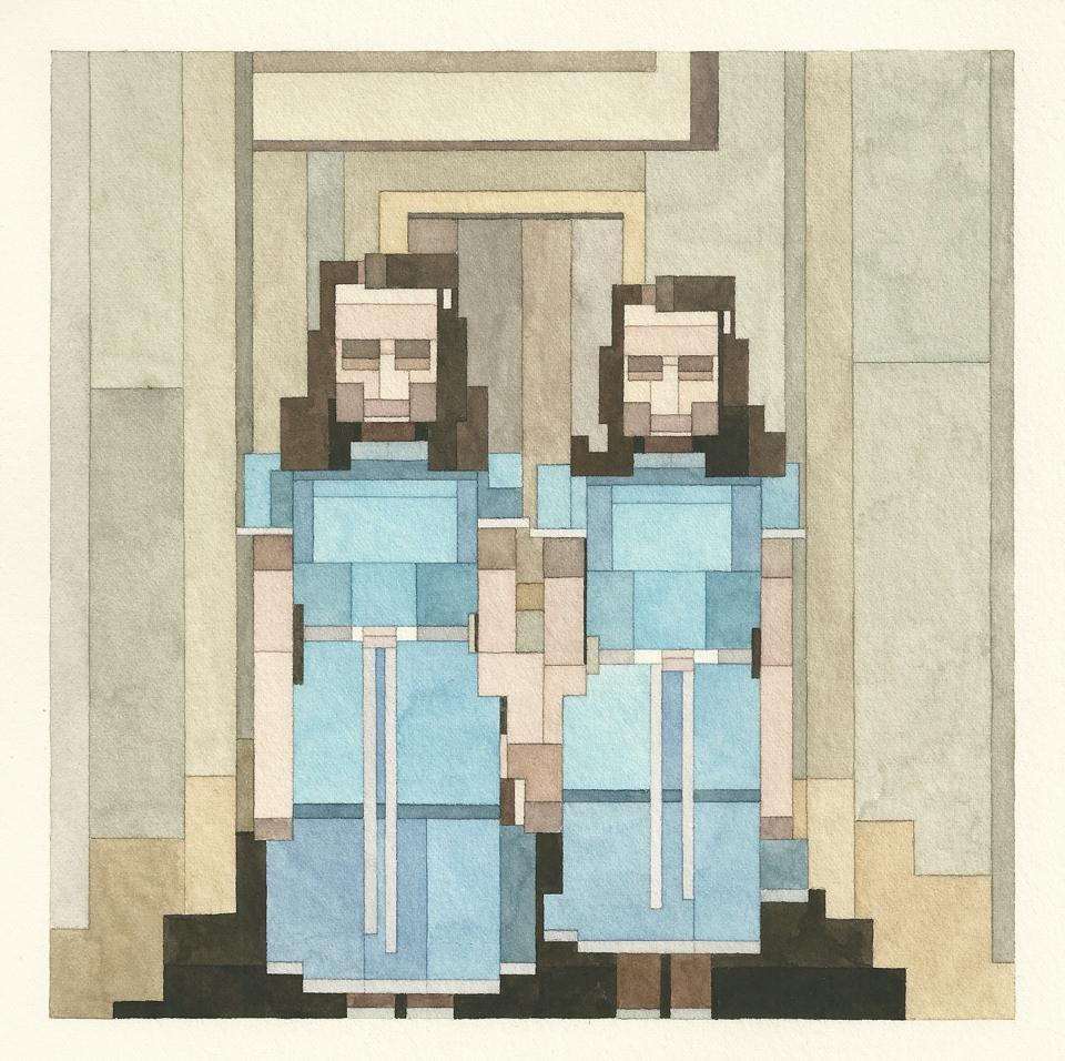 New '8 Bit Watercolor Paintings Inspired by Atari and Nintendo Graphics by Adam Lister watercolor pop culture painting