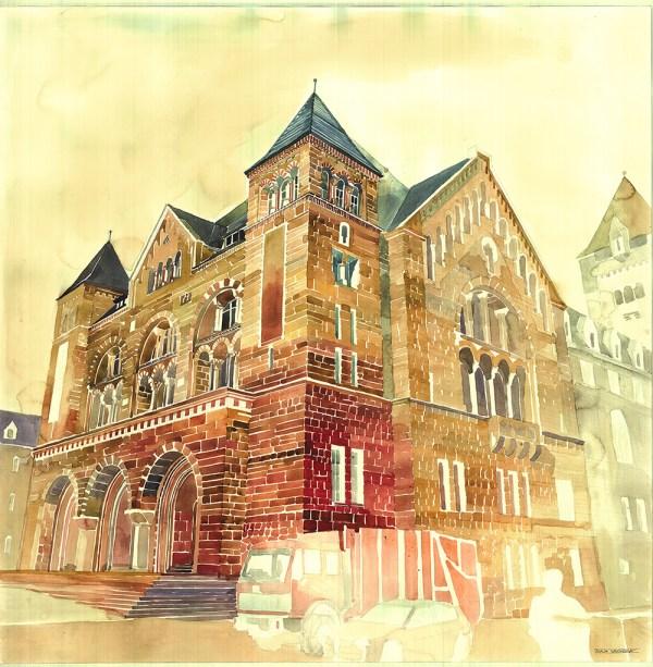 Colorful Architectural Watercolors Maja Wronska