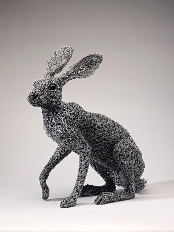 Lifelike Galvanized Wire Animal Sculptures Kendra Haste