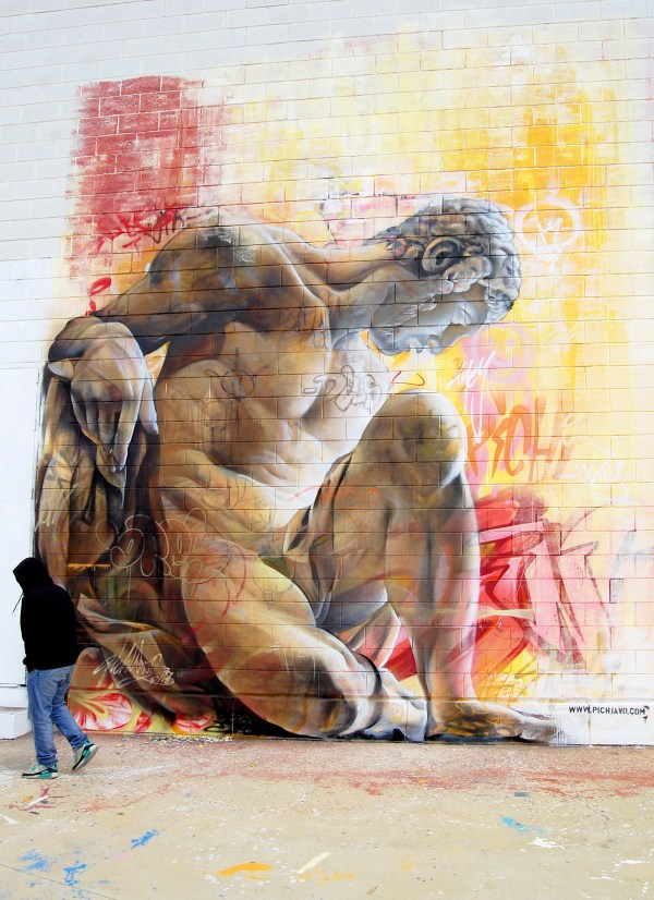 Murals Of Greek Gods Rendered Chaotic Backdrop