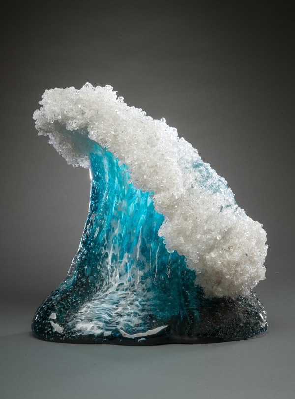 Glass Wave Sculpture