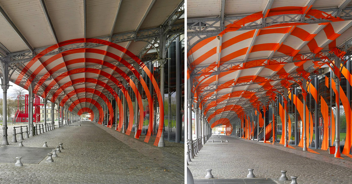 New Largescale Geometric Illusions in Paris by Felice Varini  Colossal