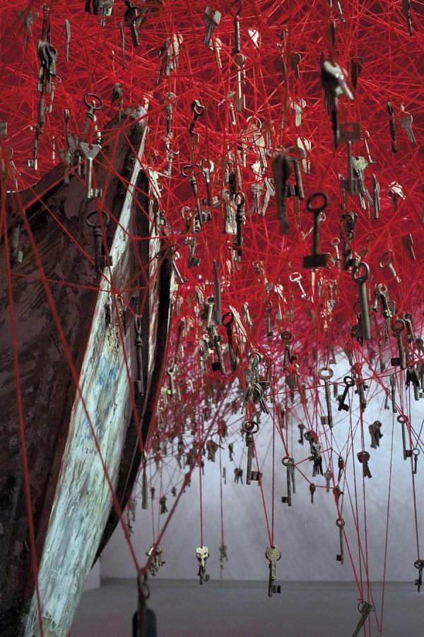 Installation Artist Chiharu Shiota Casts Tangled Web Of