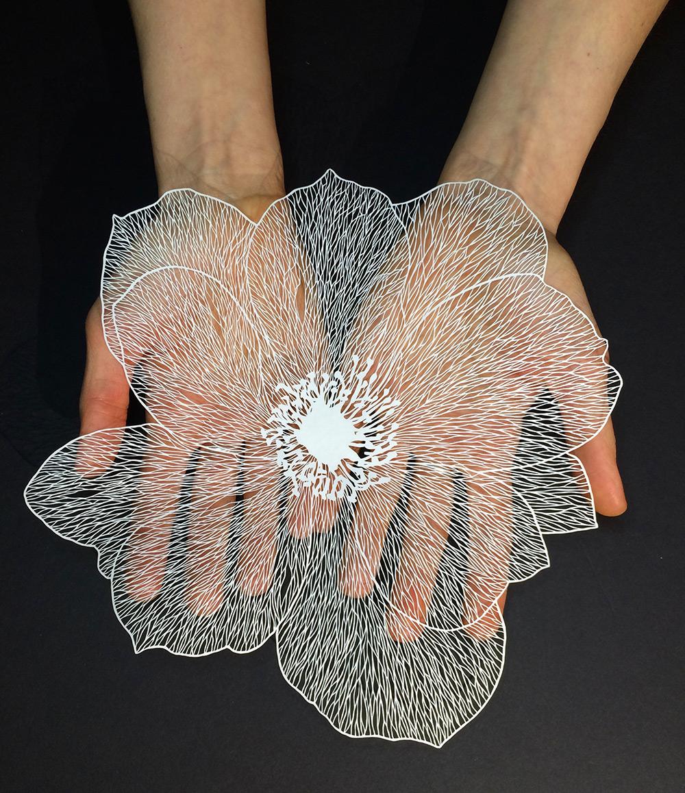 paper flower cut