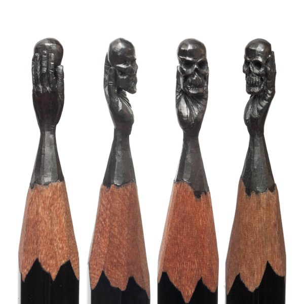 Delicate Pencil Lead Sculptures Carved Salavat Fidai