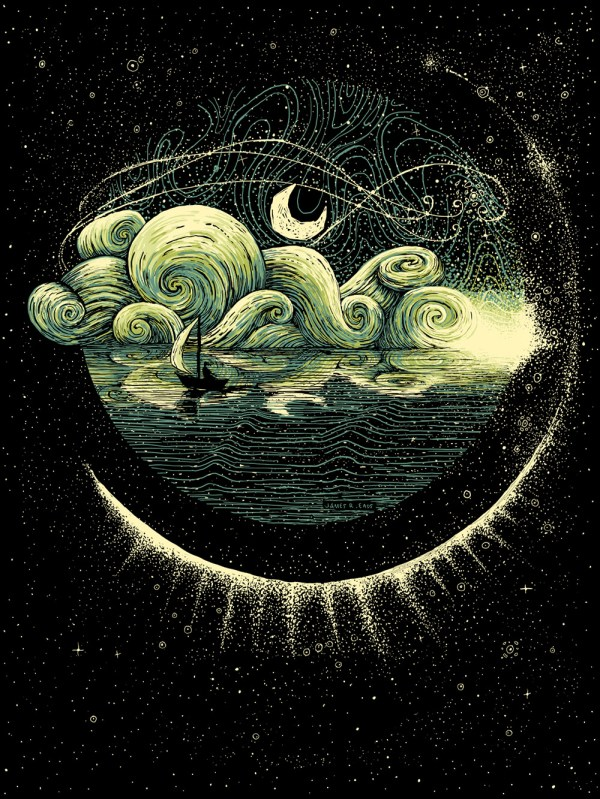 Swirling Illustrations James . Eads Explore Human Connections And Natural World Colossal