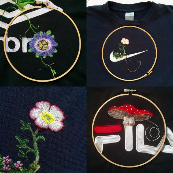 Artist James Merry Embellishes Sportswear Logos With