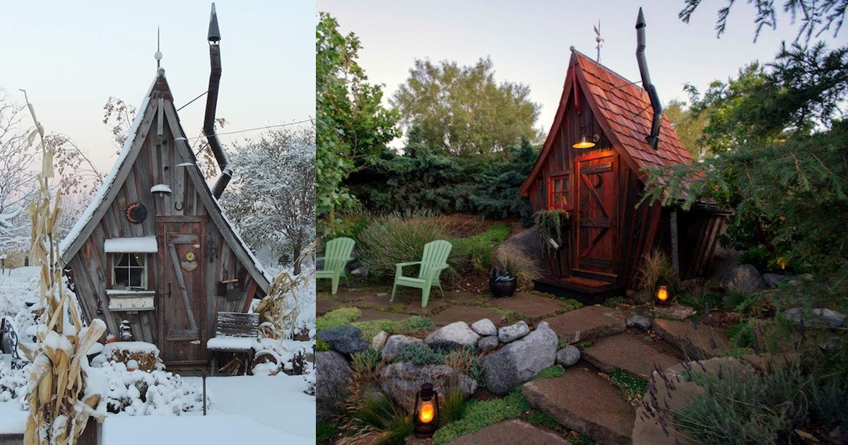 Tiny Reclaimed Wood Cabins That Appear Plucked From the