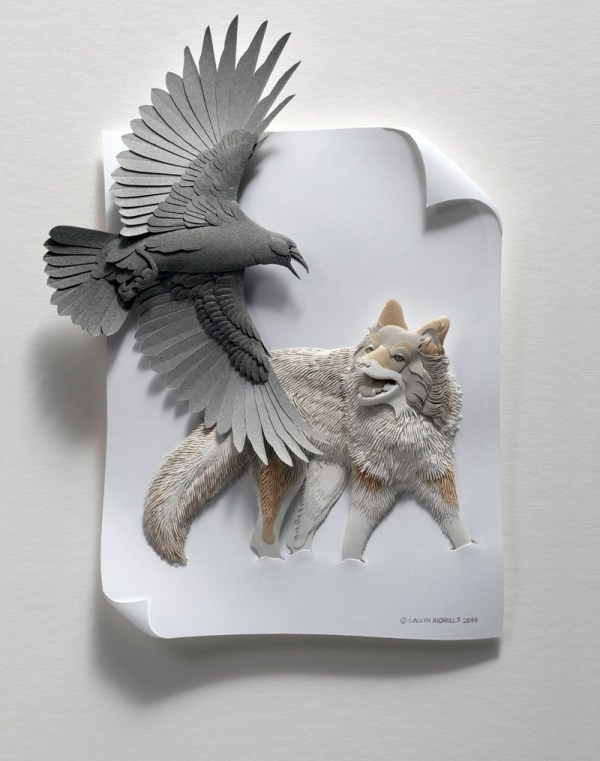 Delicate Layered Paper Sculptures Of Birds And