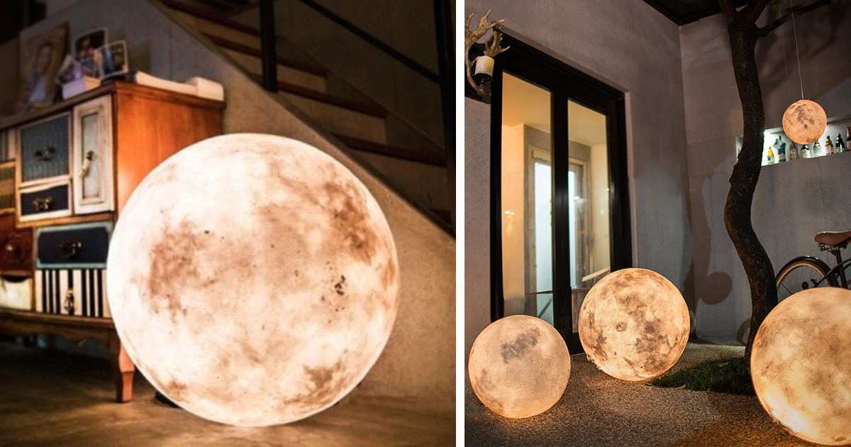 Luna A Lantern That Looks Like a Moon  Colossal