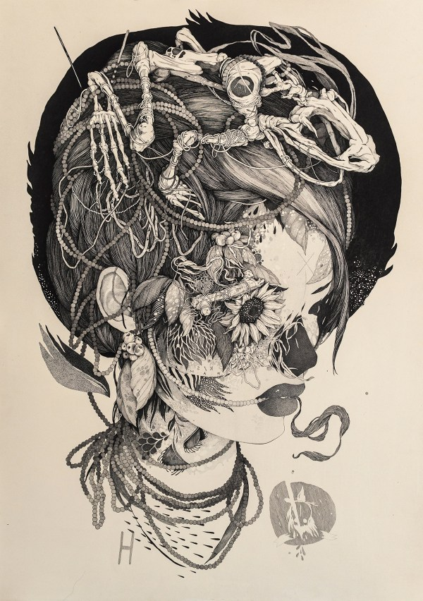 Sprawling Tattoo-inspired Ink Drawings Benze Colossal
