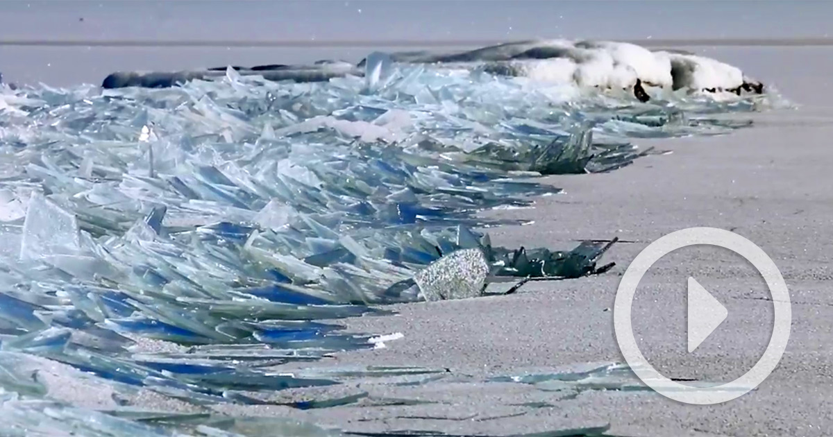 Watch As The Frozen Surface Of Lake Superior Crashes