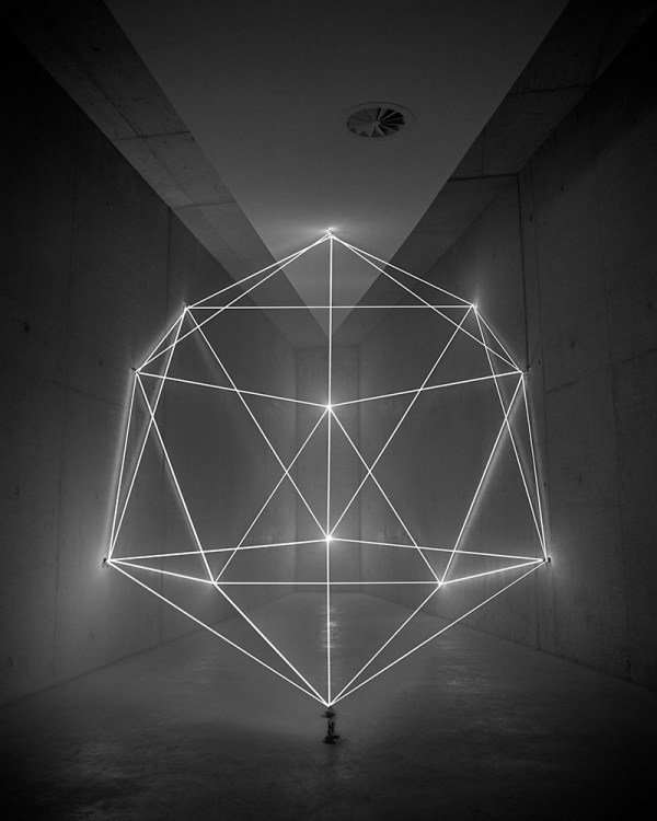 Geometric Sculptures Produced From the Immateriality of