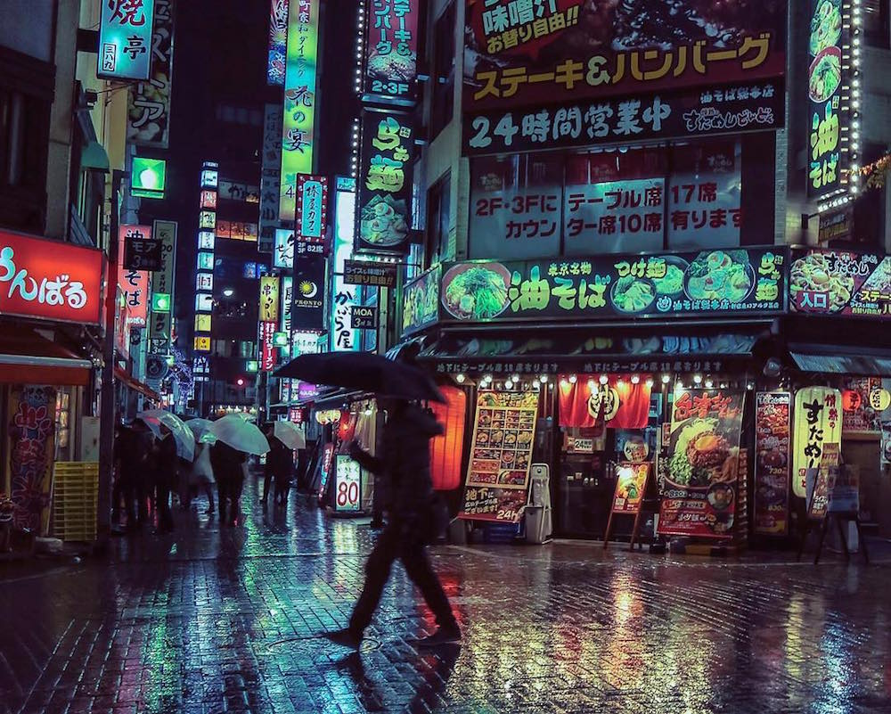 The Neon Glow of Tokyo and Londons Nightlife Captured by