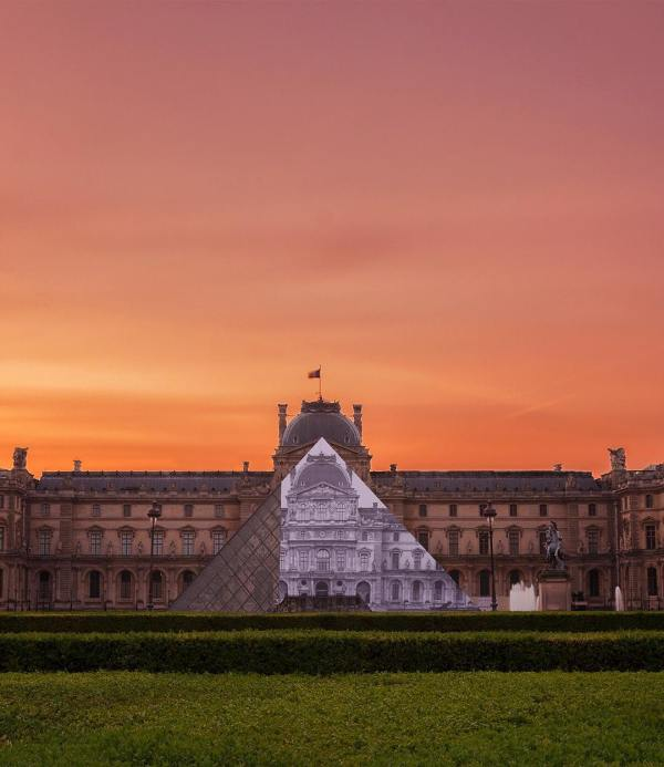Artist Jr Makes Iconic Louvre Pyramid Disappear