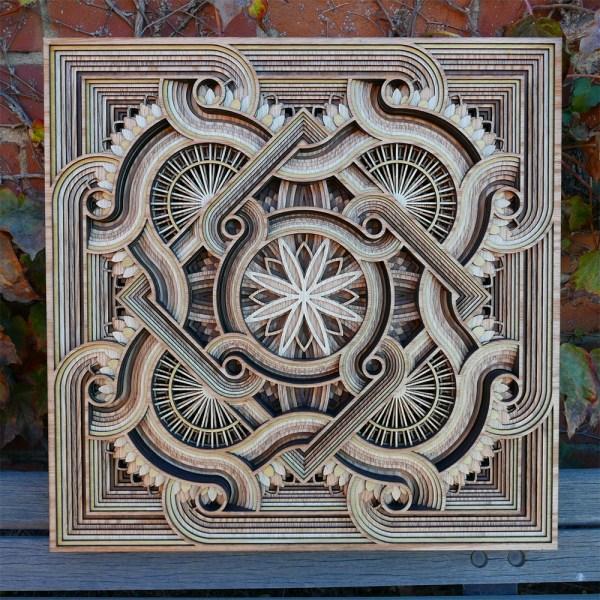 Laser-cut Wood Relief Sculptures Gabriel Schama Colossal