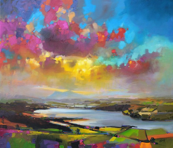 vibrant oil paintings of scottish