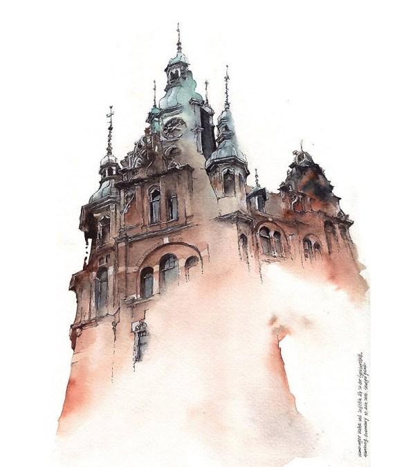 Dreamy Architectural Watercolors Artist Sunga Park