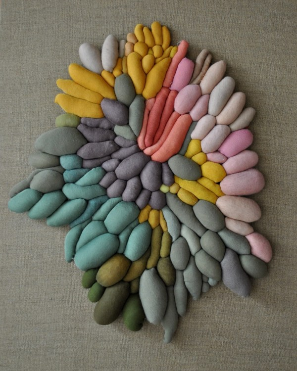 Textile Sculptures Created Dozens Of Multicolored