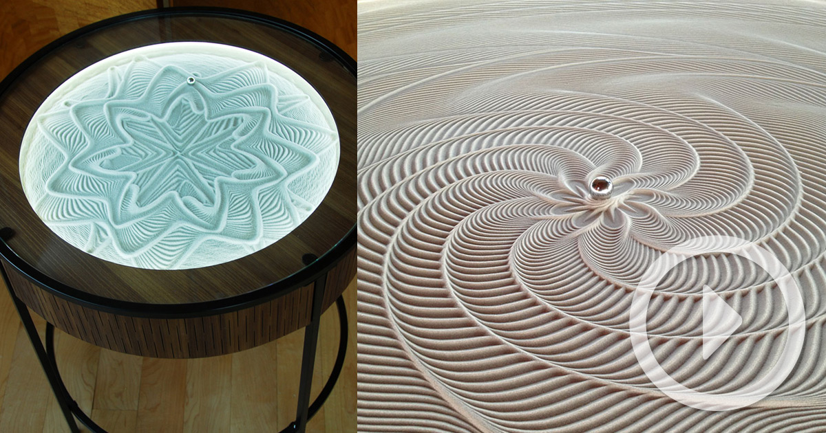 New Kinetic Sand Drawing Tables By Bruce Shapiro Colossal