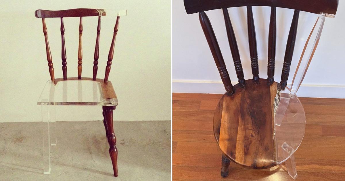 My New Old Chair Artist Fixes Broken Wood Furniture