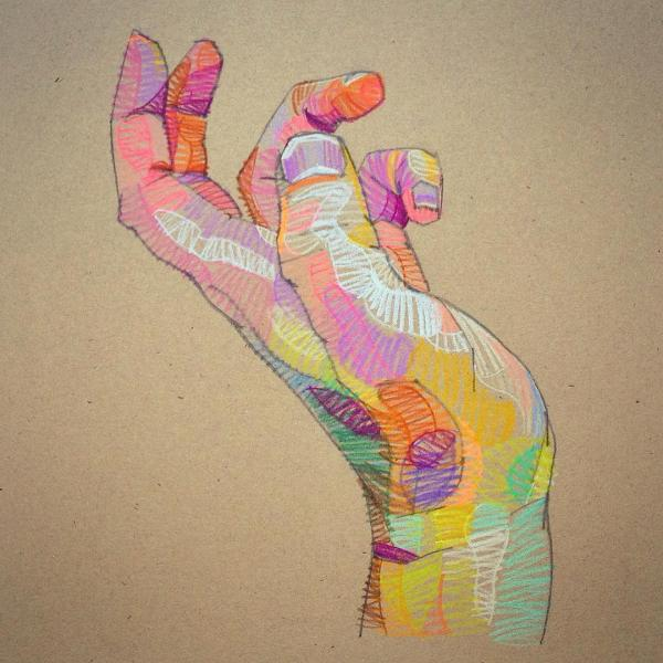 Prismatic Sketches Of Hands And Faces Lui Ferreyra Colossal
