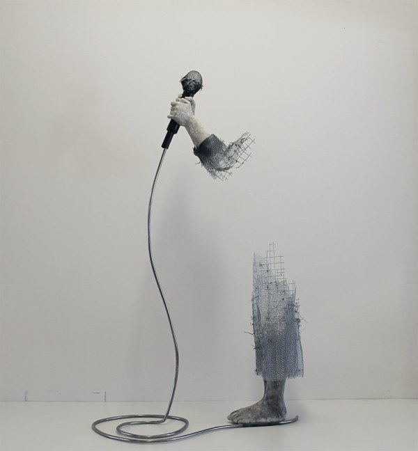 Wire Mesh Figures Of Children Dissolve Thin Air Colossal