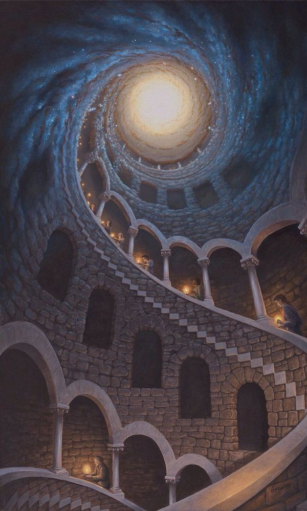 Narrative Optical Illusions Painted Rob Gonsalves