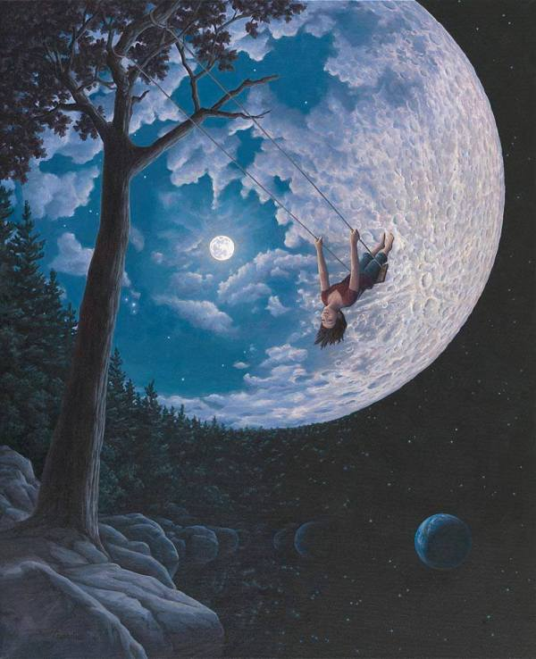 Over the Moon by Rob Gonsalves