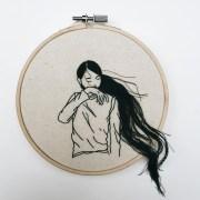 hand-sewn hairstyles cascade