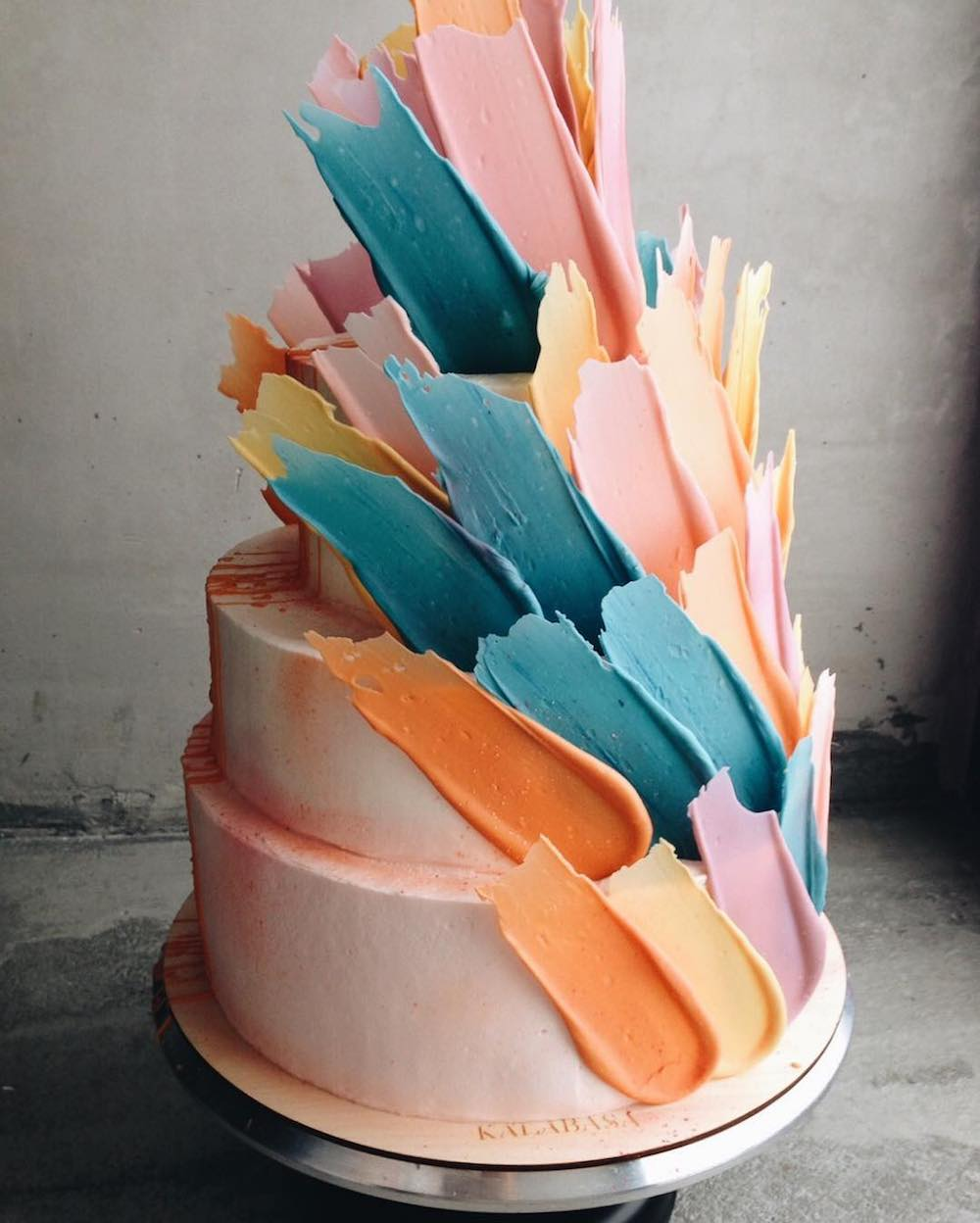 Abstract Cakes Topped With Chocolate Brushstrokes  Colossal