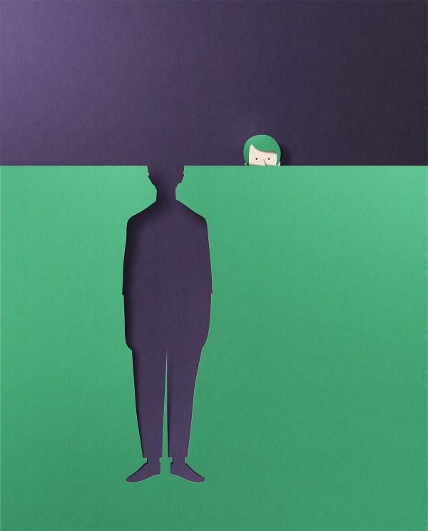 Paper Textured Editorial Illustrations Eiko Ojala