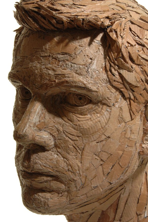 Figurative Sculptures Formed Recycled Cardboard