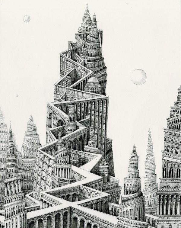 Ad Infinitum Pen & Ink Drawings Benjamin Sack Depict