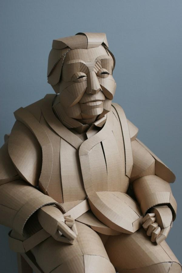 Life-size Cardboard Sculptures Of Chinese Villagers Tap Artist Warren King Ancestral