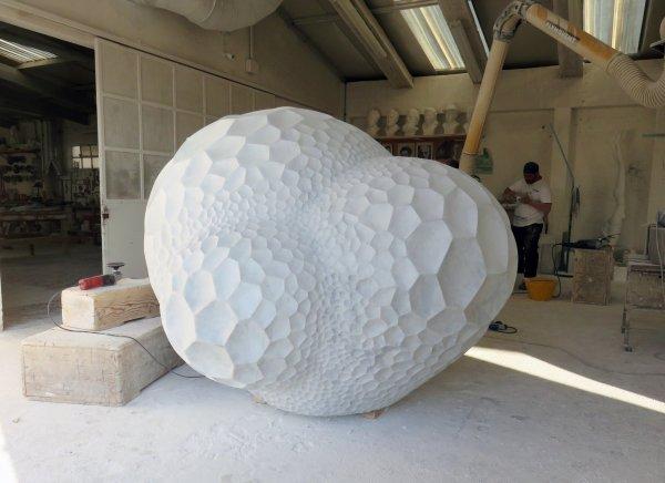 Porous Boulder- Sculptures Chiseled Italian