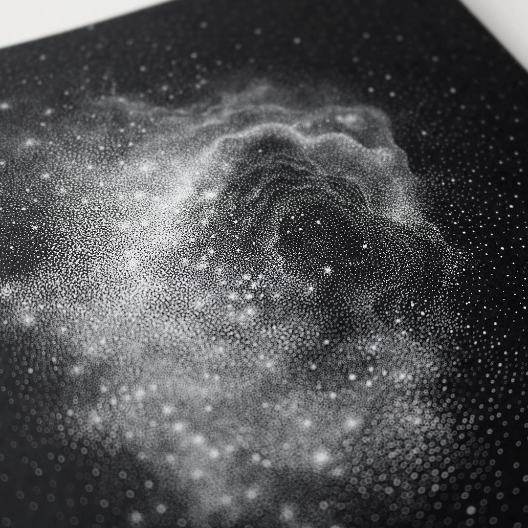 Stippled Black and White Illustrations of StarPacked