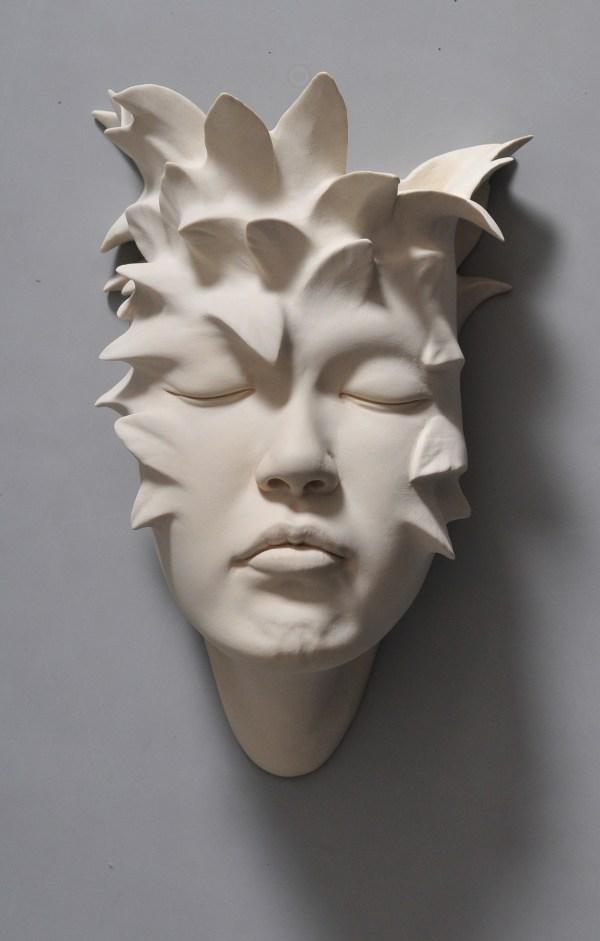 Open Mind Warped Face Sculptures Johnson Tsang