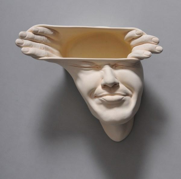 Open Mind Warped Face Sculptures Johnson Tsang Colossal