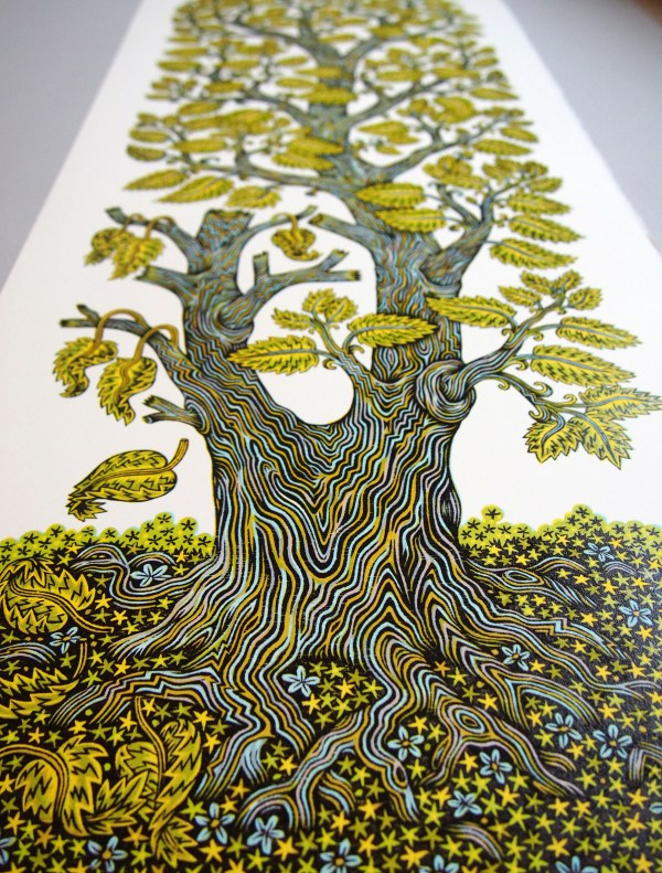 Tall Leafy Tree Grows In Tugboat Printshop 4-color