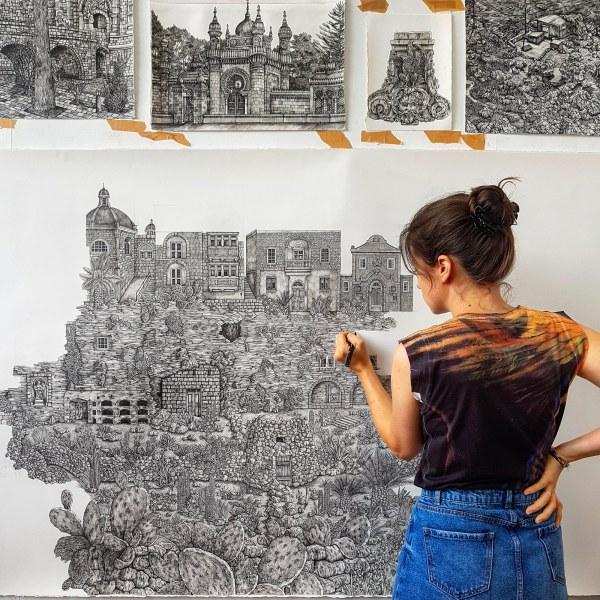 Sprawling Ink Drawings Olivia Kemp Explore
