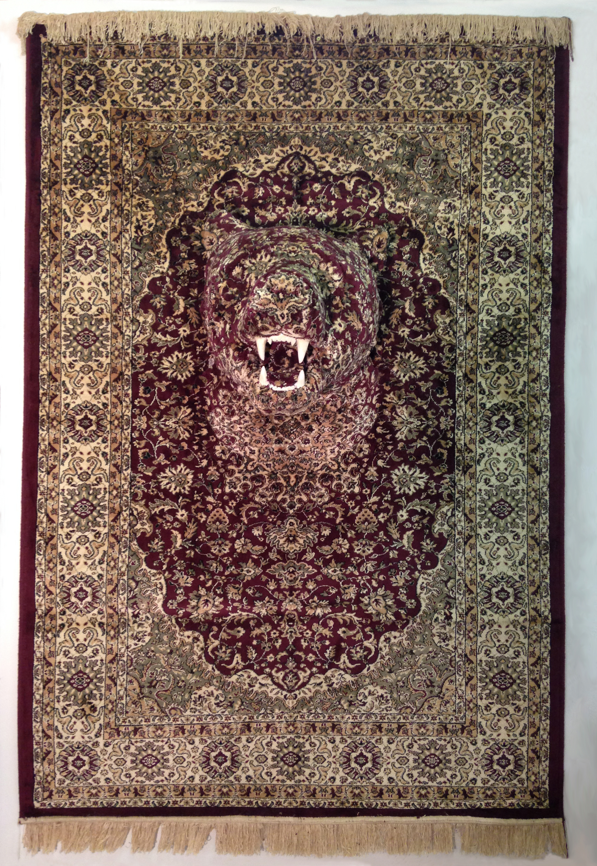 Life Size Animals Emerge From Persian Rugs In Perception