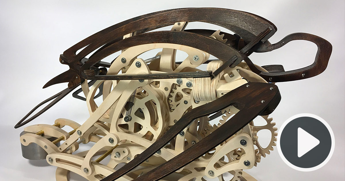 a kinetic sculpture built