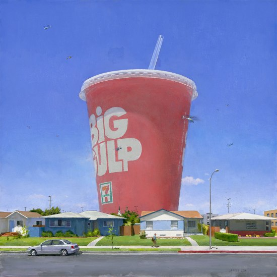 """Edge of Town 16"" (2018), Oil on canvas, 30 x 30 inches"