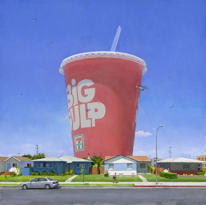 """""""Edge of Town 16"""" (2018), Oil on canvas, 30 x 30 inches"""